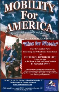 Invitation- 2016 Wine for Wheels Mobility for America